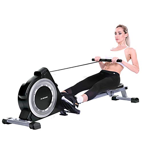 MaxKare Magnetic Rowing Machine Folding Exercise Rower 16-Level Tension Resistance