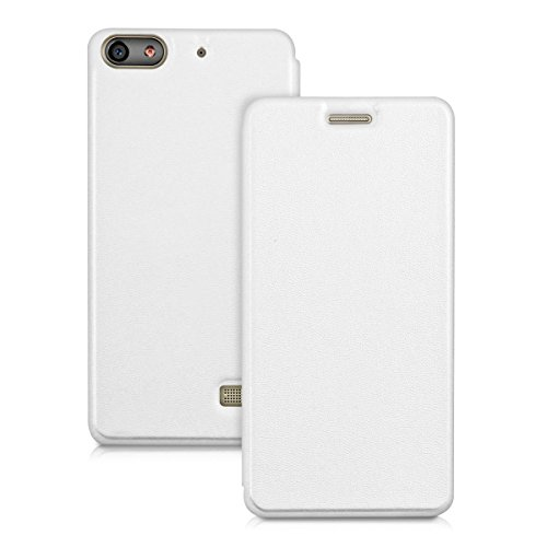 Play In Case (kwmobile Practical and chic FLIP COVER case for Huawei G Play Mini in white)