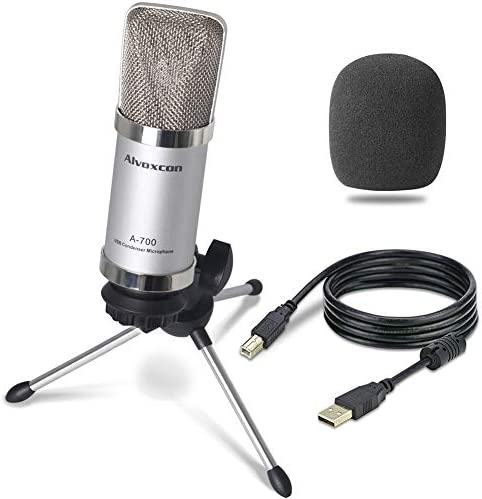 Microphone Alvoxcon Unidirectional Condenser Podcasting product image