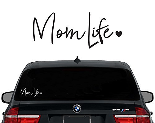 Mom Decal Sticker - Mom Life Decal Vinyl Sticker|Cars Trucks Vans Walls Laptop| WHITE |7.5 in|CCI476