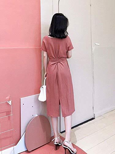 Oudan Girocollo Stile Di A Large Harajuku Abiti Dimensione Daisy Maniche Autopellante Delicate Lunghe Stringato Gonne Abiti colore E B BBq5rw1