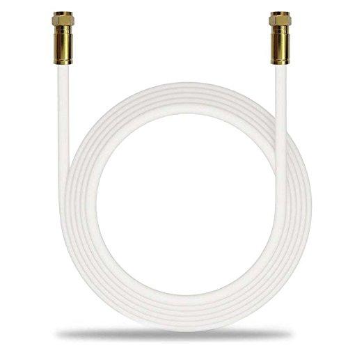 LOKMANN 10 M Cable de Antena Coaxial 135dB HD Sat Coaxial Cable Cobre 5 apantallamiento DE 75 ohmios Digital TV Antena para Conector F de Color Dorado Full ...