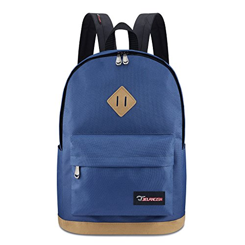 Classic Unisex Backpack, S.K.L Water Resistant Travel Rucksack Lightweight Casual College Laptop Daypack Fits 14 15 15.6 Inch Laptops for Teen Boys Girls Women Men