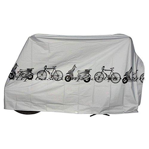 Ezyoutdoor Bike Motorcycle Rain Cover Dust Protector Cover Waterproof Protection Garage Waterproof Outdoor Scooter Protector Gray For Bike Bicycle Cycling Random Color