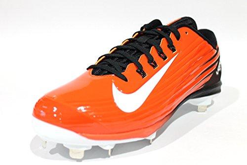 Nike Herren Lunar Vapor Pro Low Metal Baseballschuh Spiel Orange / Weiß / Schwarz