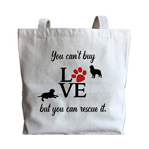 - Dog Lover Gift - New Puppy Gift - Dog Rescue - Adopt Don't Shop - Pet Adoption - Rescue Dog Mom - Golden Retriever - Large Canvas Tote Bag