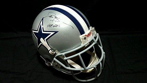 Deion Sanders Dallas Cowboys Hof 2011 Pro Line On Field Autograph Fs Helmet JSA Certified