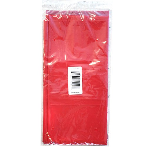 Party Dimensions Single Count Rectangular Plastic Tablecover, 54 by 108-Inch, Red