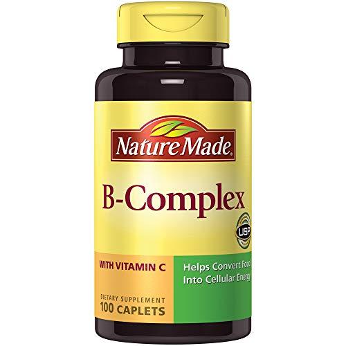 Nature Made B Complex (Thiamin, Riboflavin, Niacin, B5 & B6) w. Vitamin C Caplets 100 Ct