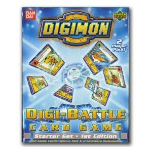 Digimon Digital Monsters Digi-Battle Card Game Starter Set 1st Edition 2 Player Pack. by Ban Dai