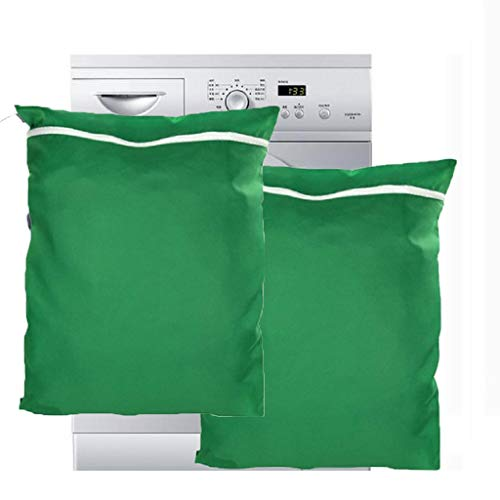OrgaWise Pet Laundry Bag for Dog/Cat/Small Pets Clothing,Bedding,Blankets,Filters Pet Hair,Toys and Protecting Washing Machines(2pcs Green pet Laundry Bag) (Best Laundry Washing Machine)