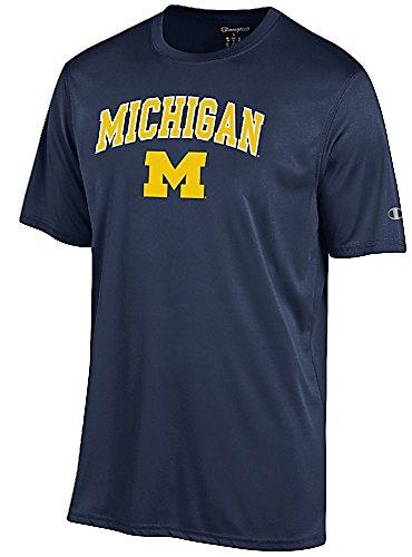Michigan Wolverines Navy Vapor Dry Champion Powertrain Short Sleeve Tee Shirt (M=40)