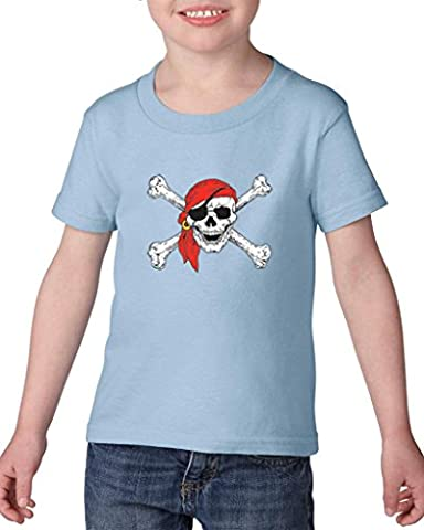 Artix Jolly Roger Skull Crossbones Pirate Booty Belt for Pirate Costumes Best Friend Gifts Heavy Cotton Toddler Kids T-Shirt Tee Clothing 3T Light (John Cena Pants Belt)