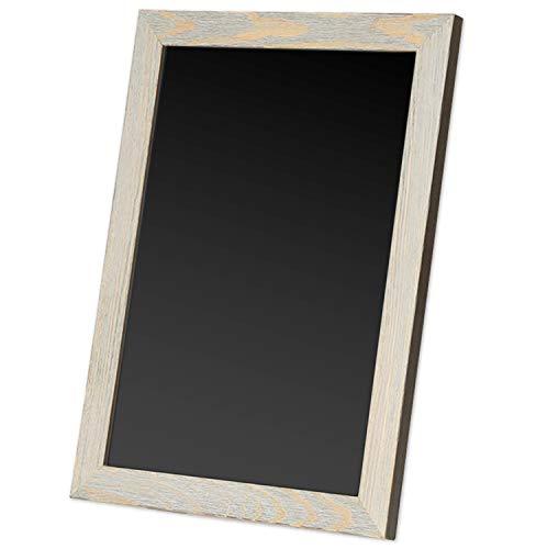 - Ilyapa Rustic Wooden Magnetic Kitchen Chalkboard Sign - 20x30 Inch Graywash Framed Hanging Chalk Board for Farmhouse Decor, Wedding, Restaurant & Home