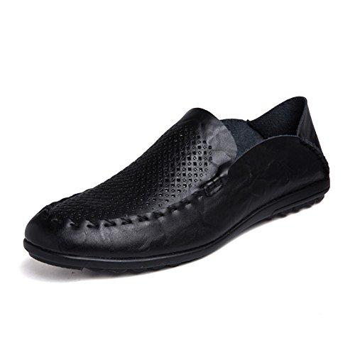 Pelle Business Office Uomo Casual In Driving Traspiranti HGDR Scarpe Estive Black Per Per qvSXPH6tnw