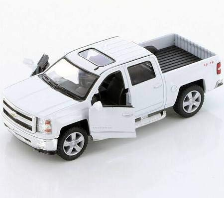 Kinsmart 2014 Chevrolet Silverado LTZ 4x4 Pick Up Truck 1:46 Diecast Car White