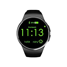 OAK Bluetooth Smartwatch,Touch Screen Smart Watch Phone with SIM Card Slot Sleep Monitor Heart Rate Monitor Pedometer for IOS Android Devices (black)