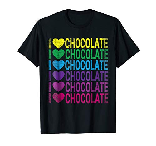 I Love Chocolate - I Heart Chocolate - Rainbow T Shirt for $<!--$16.95-->