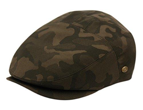 Epoch Men's Cotton Flat Ivy Caps Summer Newsboy Hats (L/XL, Green Camouflage)