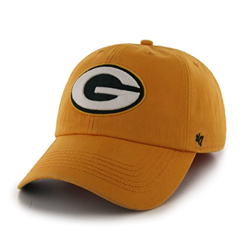 NFL Green Bay Packers '47 Brand Franchise Fitted Hat, Gold, (Franchise Green)
