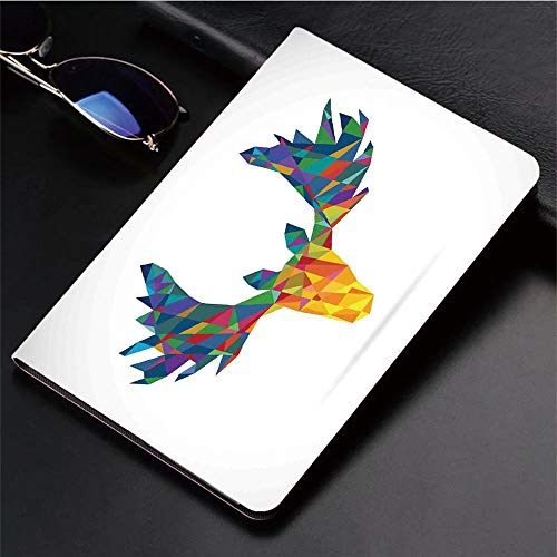 3D Printed iPad Pro 10.5 Case,Design Trophy Geometric Glass Horn Wildlife Art,Protective Cover with Auto Wake/Sleep Compatible with Apple iPad Pro 10.5 inch 2017 Tablet