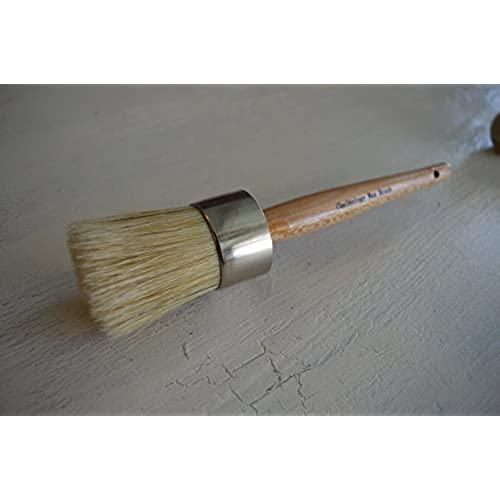 Wood Stencils Painting or Waxing Professional Chalk Paint Wax Brush Large Brushes with Natural Bristles by Chalkology Furniture Home Decor Folkart Annie Sloan Dark /& Clear Soft Wax