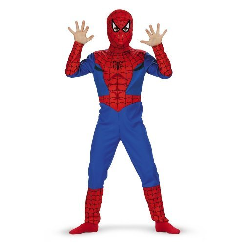 Spiderman Dress For Kid (Spiderman Classic Costume - Size: Child L(10-12))