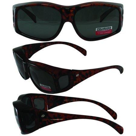 e01d8d537227e Birdz Eyewear Beak 1.1 mm Polarized Sunglasses Brown Tortoise Print Frame ( Over-Prescription glasses