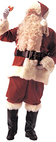 UHC Men's Santa Velvet Suit Deluxe Outfit Holiday Theme Party Christmas Costume, XL (50-54) by Ultimate Halloween Costume