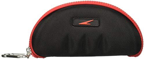 Speedo Swim Goggle Case, Black/Red, One Size
