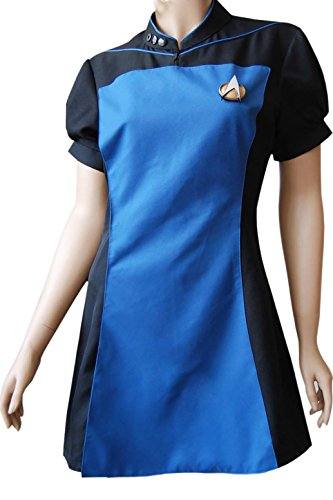 XOMO Star Trek The Next Generation TNG Skant Cosplay Costume Uniform Dress Female XL]()
