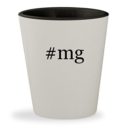 Price comparison product image #mg - Hashtag White Outer & Black Inner Ceramic 1.5oz Shot Glass