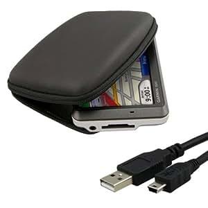 Hard Shell Nylon Carrying Case + USB Cable (Black)