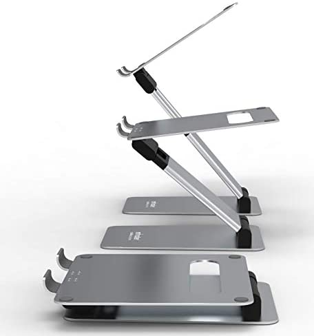 obVus Solutions Adjustable Laptop Tower Stand | Awarded Best Laptop Stand for 2021 via Wired | Ergonomic Design | Sitting to Standing in Seconds | Reduce Back and Neck Pain | Original Patented Design