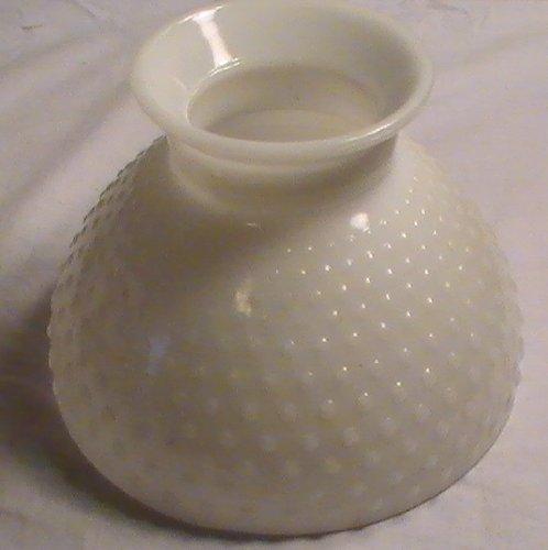 Vintage Milk Glass Hobnail Lamp Globe