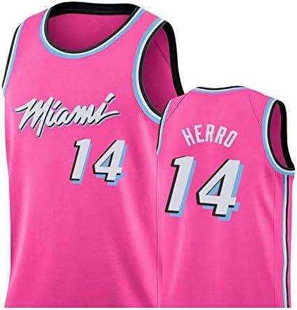 Heat#14 Tyler Hiroバスケットボールジャージメンズベストスポーツウェア