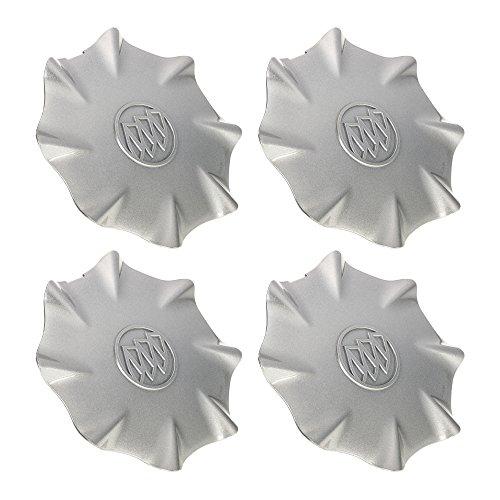 OEM NEW Wheel Hub Center Caps Set Silver w/ Buick Logo 03-04 LeSabre 9594198 by GMC (Image #1)