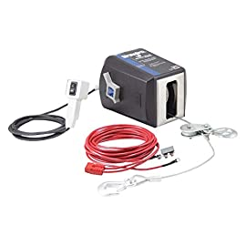 Dutton-Lainson StrongArm 12 Volt DC Powered Electric Winch with Remote – 4,500-Lb. Capacity, Galvanized Aircraft Cable…