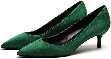 c6e160adbbb69 CAMSSOO Women's Low Heel D'Orsay Slip On Pointed Toe Dress Pumps ...