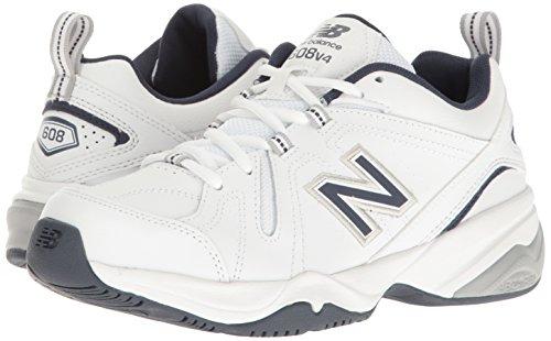 New Balance Men's MX608v4 Training Shoe, White/Navy, 10.5 4E US by New Balance (Image #14)