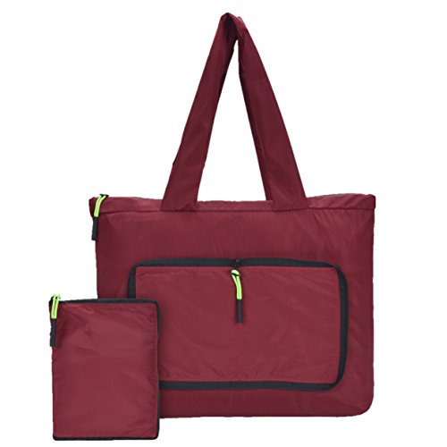 Women Fashion Top Handbag,Foldable and Eye-catching Red Shoulder Bags,Super Lightweight for Shopping Purse