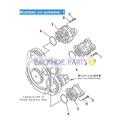 amazon com: for komatsu wheel loader wa500-3 hydraulic gear pump  705-12-44040: automotive
