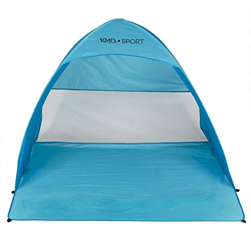 Beach Pop Up Tent – Lightweight Portable Cabana for Privacy & Shade – Great for Kids, Adults, Family – Quick Set Up Provides Shelter from the Sun – Available in 3 Stunning Colors (Blue)