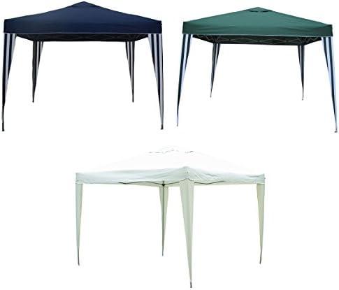 Tonnelle démontable pour camping/barbecue - style chapiteau - bleu - 3 x 3 m
