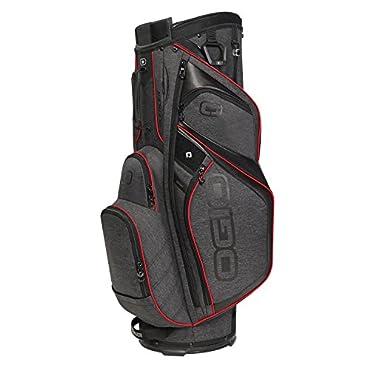 OGIO Silencer Cart Bag, Dark Static/Red