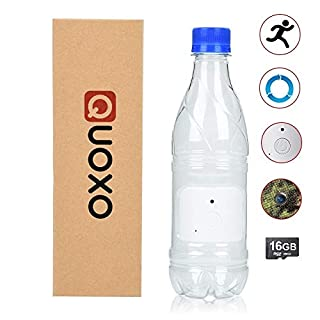 QUOXO[New Version] 16G 1080P HD Water Bottle Hidden Camera Recorder Support Motion Detection and Loop Recording