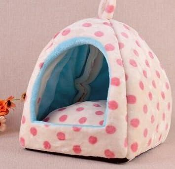 icase4u® bonita y practica camita casa cama para animal pequeño mascotas perrito y gatito, size m 33x33x37cm (B-rosa): Amazon.es: Coche y moto