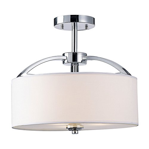 modern-elegant-contemporary-semi-flush-ceiling-light-white-fabric-shade-and-frosted-glass-diffuser-w