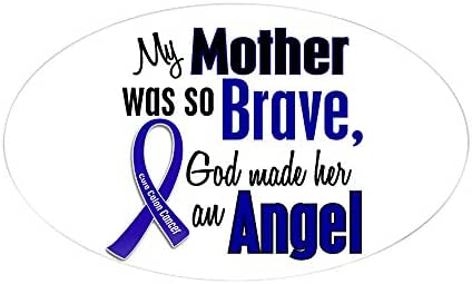 CafePress Angel 1 Mother Colon Cancer Oval Sticker Oval Bumper Sticker, Euro Oval Car Decal