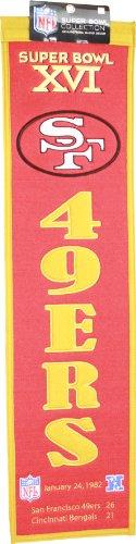 San Francisco 49ers Super Bowl XVI Champions Heritage Wool Banner Pennant ()